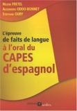 L'épreuve de faits de langue à l'oral du CAPES d'espagnol