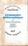 Grammaire philosophique - Gallimard - 12/03/1980