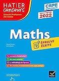 Mathématiques - CRPE 2022 - Epreuve écrite d'admissibilité