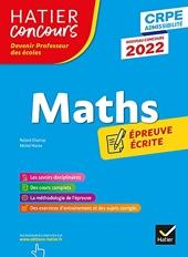 Mathématiques - CRPE 2022 - Epreuve écrite d'admissibilité de Roland Charnay