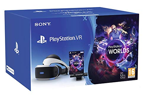 Sony PlayStation VR + PS Camera + VR Worlds, Système compatible avec toute console PS4, Couleur du casque