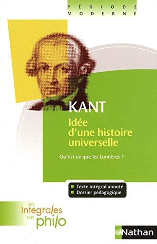 Idée d'une histoire universelle au point de vue cosmopolitique