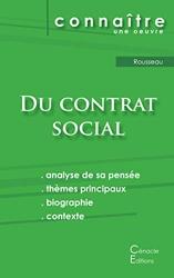 Fiche de lecture Du contrat social de Rousseau (Analyse philosophique de référence et résumé complet) de Jean-Jacques Rousseau