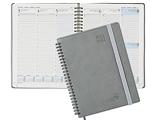 Agenda 2021 2022 Semainier A5 - Agenda Scolaire 2021 2022 Spirale (Août 2021 - Août 2022) avec Couverture Souple, Pages Notes et d'adresses, 22 x 16,5 cm, Gris