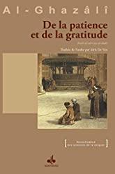 De la patience et de la gratitude d'Abû-Hâmid Al-Ghazâlî