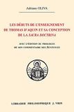 Les débuts de l'enseignement de Thomas d'Aquin et sa conception de la Sacra Doctrina