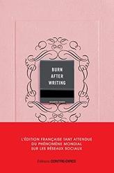 Burn After Writing - L'édition française officielle de Sharon Jones