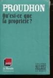 QU'EST-CE QUE LA PROPRIETE ? (MONDE) - Flammarion - 16/12/2009