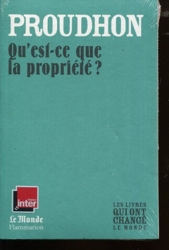 Qu'Est-Ce Que La Propriete ? (Monde) de Proudhon Pierre-Joseph