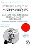 Mathématiques HEC 1997, tome 20 - Option économique et technologique