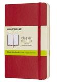 Moleskine - Carnet de Notes Classique Papier Blanche - Journal Couverture Souple et Fermeture par Elastique - Couleur Rouge Écarlat - Taille Format de Poche 9 x 14 cm - 192 Pages