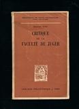 Critique de la faculté de juger - Traduction et introduction de A. Philonenko - Préface de la 1ère édition (1790) - Vrin
