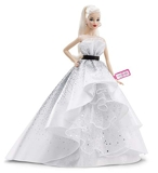 Barbie Signature poupée de collection 60ème anniversaire aux cheveux blancs et à la robe inspiration diamants, jouet collector, FXD88