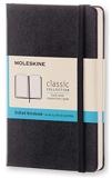 Moleskine - Carnet de Notes Classique Papier Quadrillé - Journal Couverture Rigide et Fermeture par Elastique - Couleur Noir - Taille Format de Poche 9 x 14 cm - 192 Pages