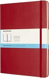 Moleskine - Carnet de Notes Classique Papier à Grille de Pointillés - Journal Couverture Rigide et Fermeture par Elastique - Couleur Rouge Écarlat - Taille Très Grand Format 19 x 25 cm - 192 Pages