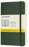 Moleskine - Carnet Classique en papier Quadrillé - Journal à Fermeture Souple et à Fermeture Élastique, Vert Myrte - Format De Poche 9 x 14 A6 - 192 Pages