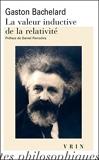 La valeur inductive de la relativité