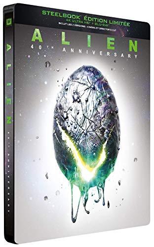 Alien [4K Ultra HD + Blu-Ray-Édition Limitée SteelBook 40ème Anniversaire]