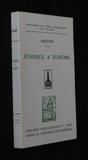 Ethique à Eudème - Librairie philosophique Vrin - 01/01/1984