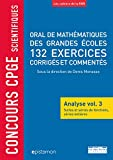 Concours CPGE scientifiques Oral mathématiques grandes écoles 132 exercices
