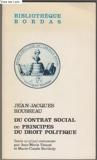 Du contrat social ou principes du droit politique - Bordas