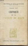 Critique de la faculté de juger - Librairie Philosophique J. Vrin - 01/01/1986