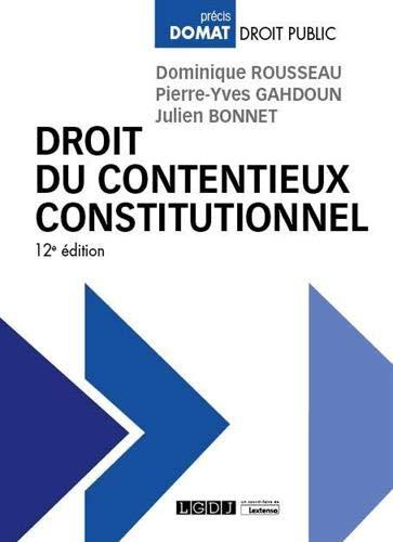 Droit du contentieux constitutionnel (2020)