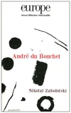 Europe, n°986-987, Juin-Juillet - André du Bouchet