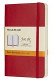 Moleskine - Carnet de Notes Classique Papier à Rayures - Journal Couverture Souple et Fermeture par Elastique - Couleur Rouge Écarlat - Taille Format de Poche 9 x 14 cm - 192 Pages