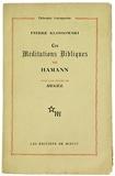 Les Méditations bibliques de Hamann. Avec une étude de Hegel.