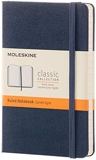Moleskine - Carnet de Notes Classique Papier à Rayures - Journal Couverture Rigide et Fermeture par Elastique - Couleur Bleu Saphir - Taille Format de Poche 9 x 14 cm - 192 Pages