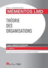 Théorie des organisations de Sophie Landrieux-Kartochian
