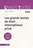 Les grands textes de droit international privé - 4e Ed.
