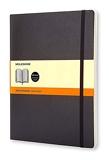 Moleskine - Carnet de Notes Classique Papier à Rayures - Journal Couverture Souple et Fermeture par Elastique - Couleur Noir - Taille Très Grand Format 19 x 25 cm - 192 Pages