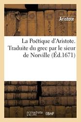 La Poétique d'Aristote. d'Aristote