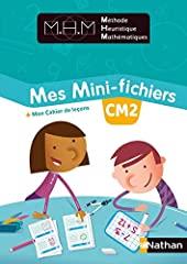 Méthode Heuristique de Mathématiques Mes Mini-fichiers + Mon cahier de leçons CM2 de Nicolas Pinel