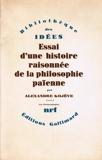 Essai d'une histoire raisonnée de la philosophie païenne, t. I. Les Présocratiques