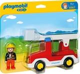 Playmobil 1.2.3. 6967 - Camion de pompier avec échelle pivotante