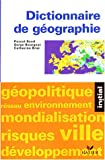 Dictionnaire de géographie - Hatier - 15/10/2003