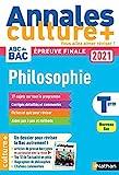 Annales ABC du Bac 2021 Culture + - Philosophie Tle - Sujets et corrigés - Enseignement de spécialité Terminale - Epreuve finale Nouveau Bac / en partenariat avec la revue L'éléphant (2)