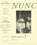 Nunc n°27 Dossier Gerard Manley Hopkins