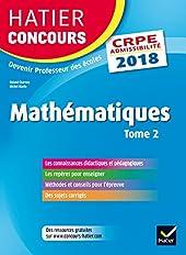 Hatier Concours CRPE 2018 - Mathématiques Tome 2 - Epreuve écrite d'admissibilité de Roland Charnay