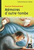 Mémoires d'outre-tombe by F. Moyal (2004-04-01) - Hatier Parascolaire - 01/04/2004