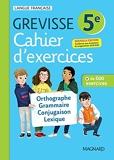Cahier Grevisse 5e (2021) Français - 5e - Edition 2021
