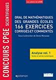 Concours CPGE scientifiques Oral de mathématiques grandes écoles 166 exercices
