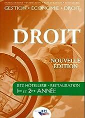 Droit BTS Hôtellerie - Restauration 1ère et 2ème année de Jean-Claude Oulé