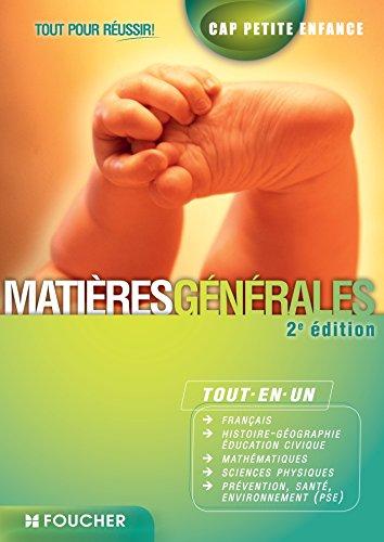 CAP Petite Enfance Matières générales