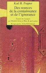 Des sources de la connaissance et de l'ignorance de Karl Popper