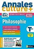 Annales ABC du Bac 2022 Culture + - Philosophie Tle - Sujets et corrigés - Enseignement de spécialité Terminale - Epreuve finale Nouveau Bac / en partenariat avec la revue L'éléphant