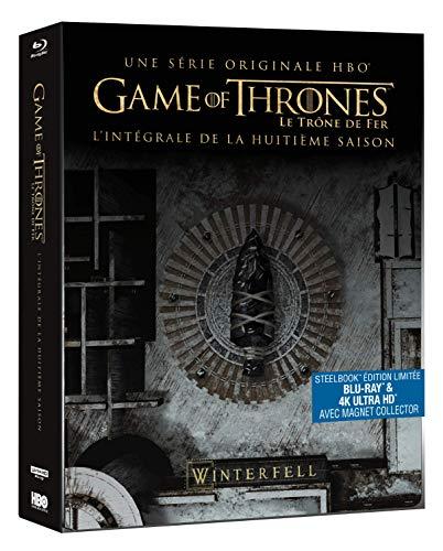 Game of Thrones – Saison 8 Steelbook Edition Limitée (Blu-ray + 4K ultra HD) [SteelBook édition limitée - Blu-ray + 4K Ultra HD + Magnet Collector]